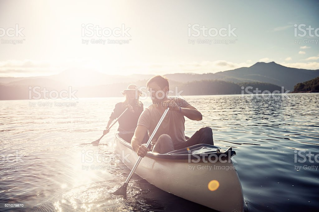 Out for a leisurely boat ride stock photo