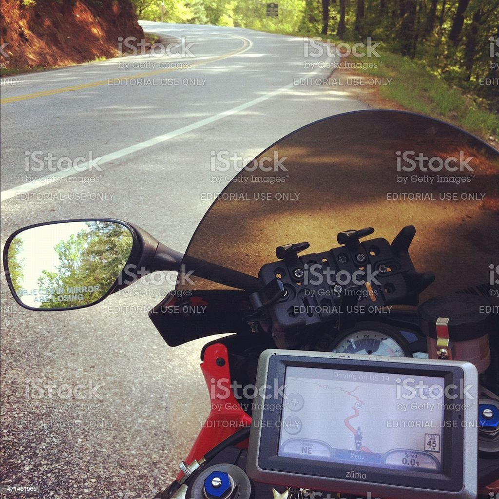 out for a motorcycle ride stock photo