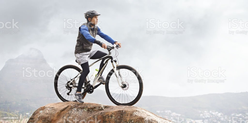 Out for a mountain bike ride stock photo