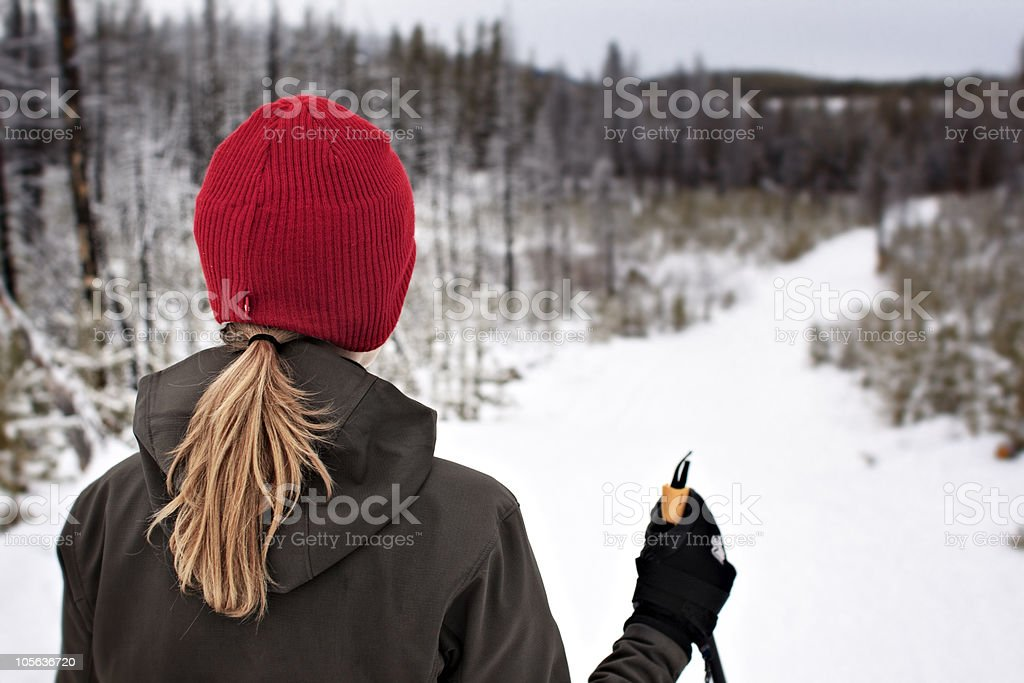 out for a ski royalty-free stock photo