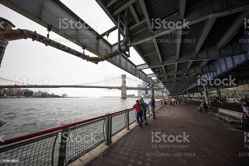 Out for a walk, Manhatten, New York City, United States stock photo