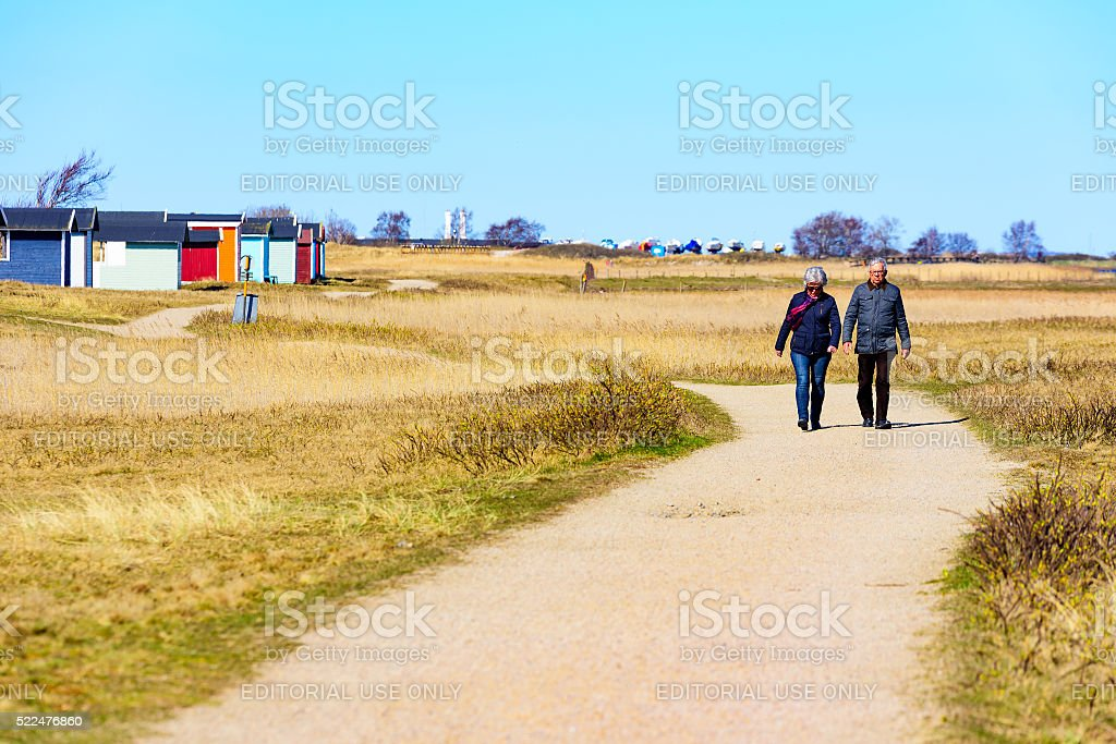 Out for a walk stock photo
