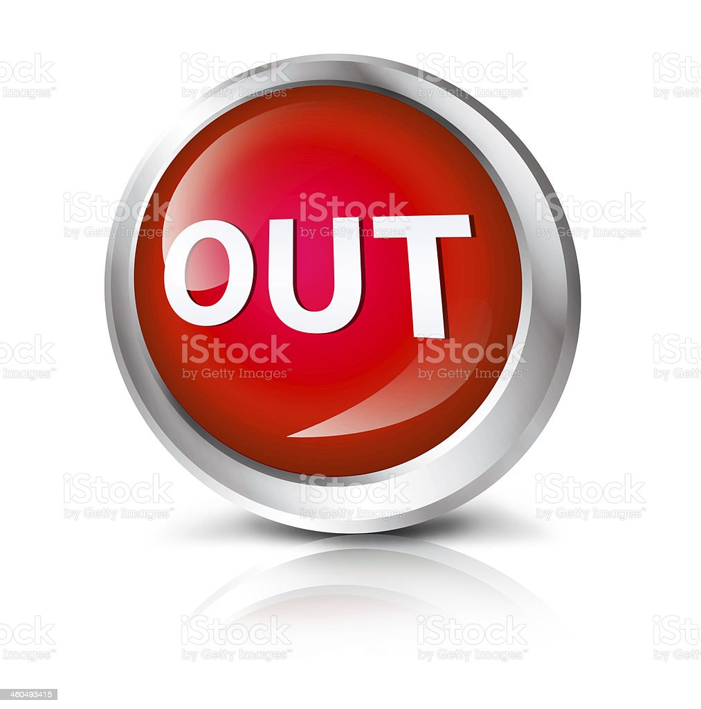 Out icon stock photo