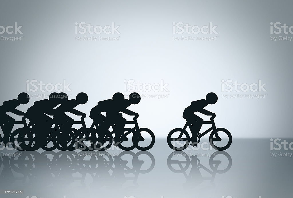 Out in Front royalty-free stock photo