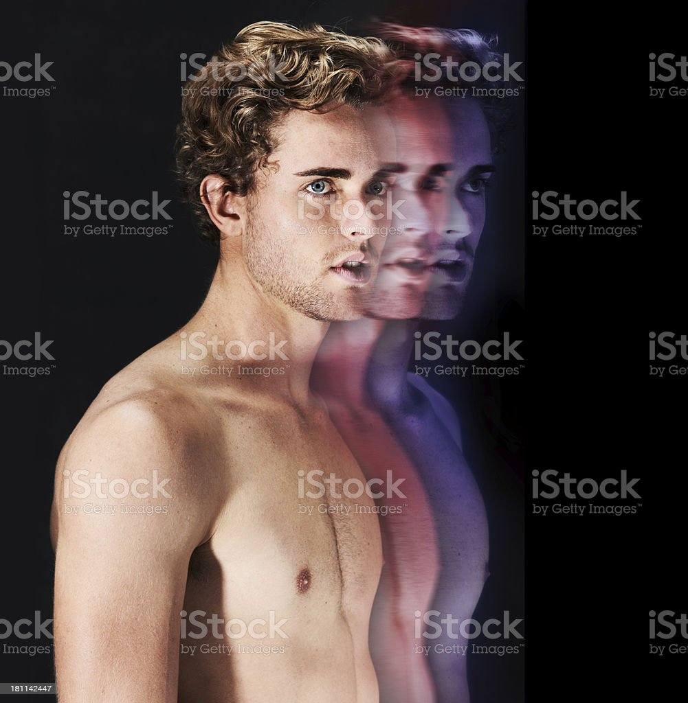 Out of body experience royalty-free stock photo