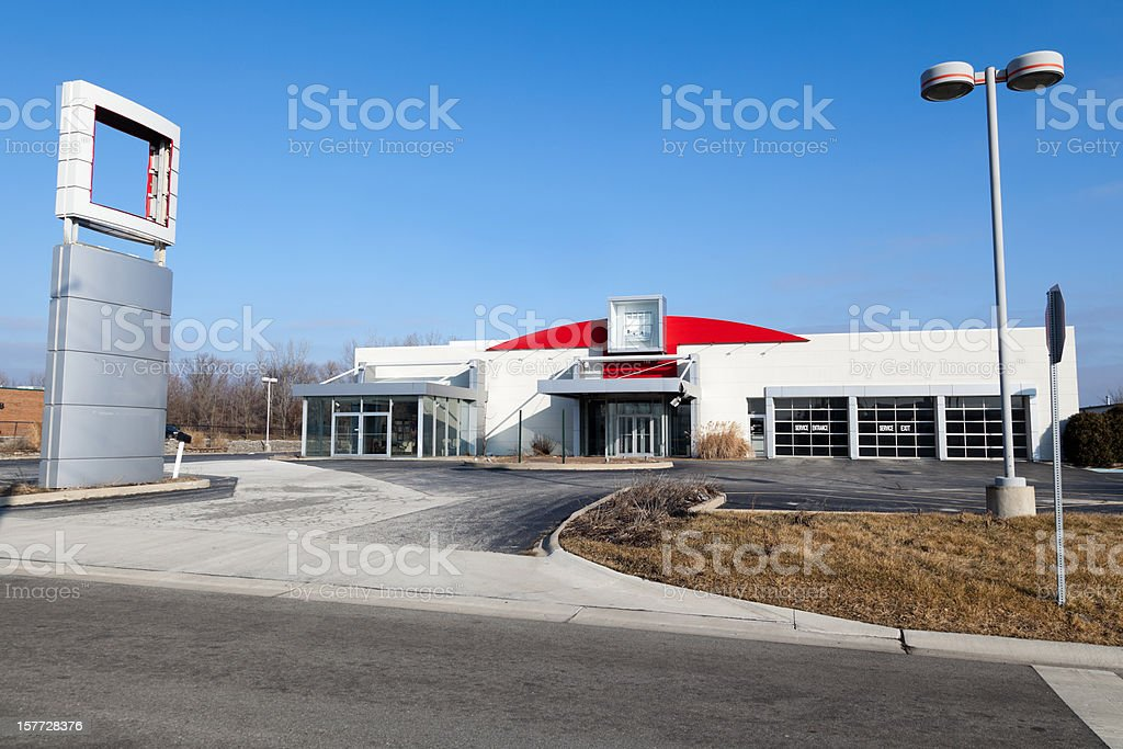 Out Of Business Car Dealership royalty-free stock photo