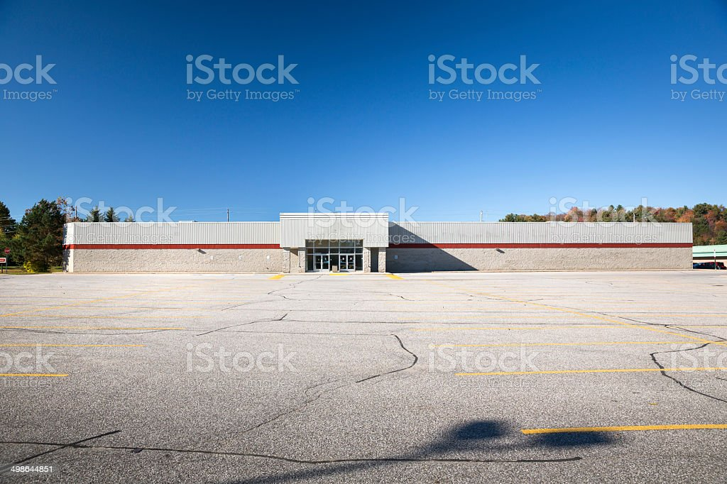 Out of business retail store stock photo