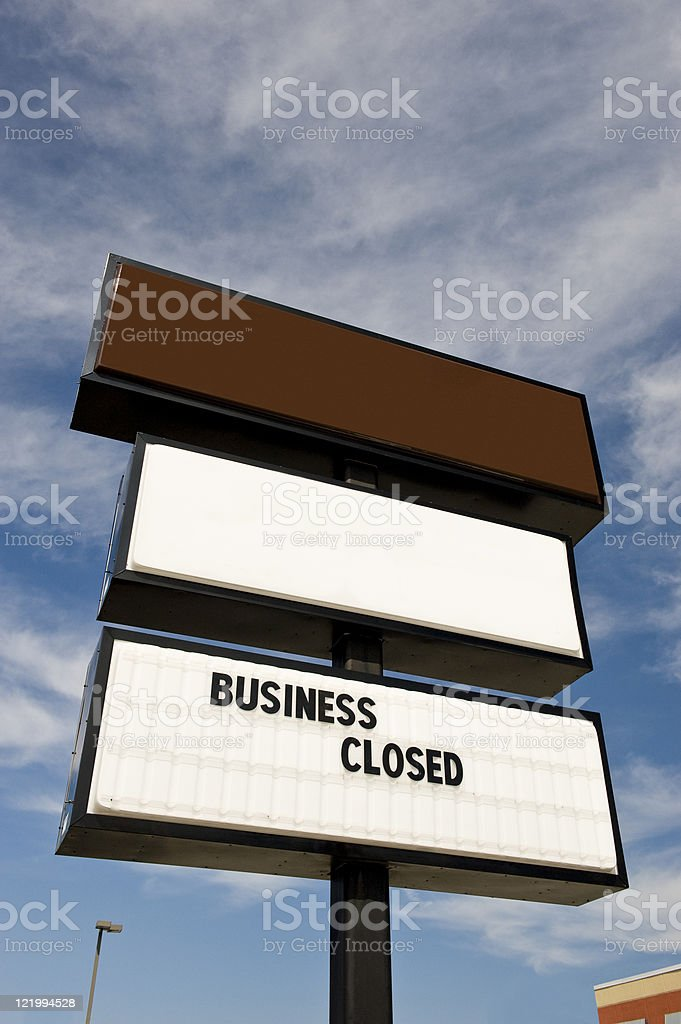 Out Of Business Sign royalty-free stock photo