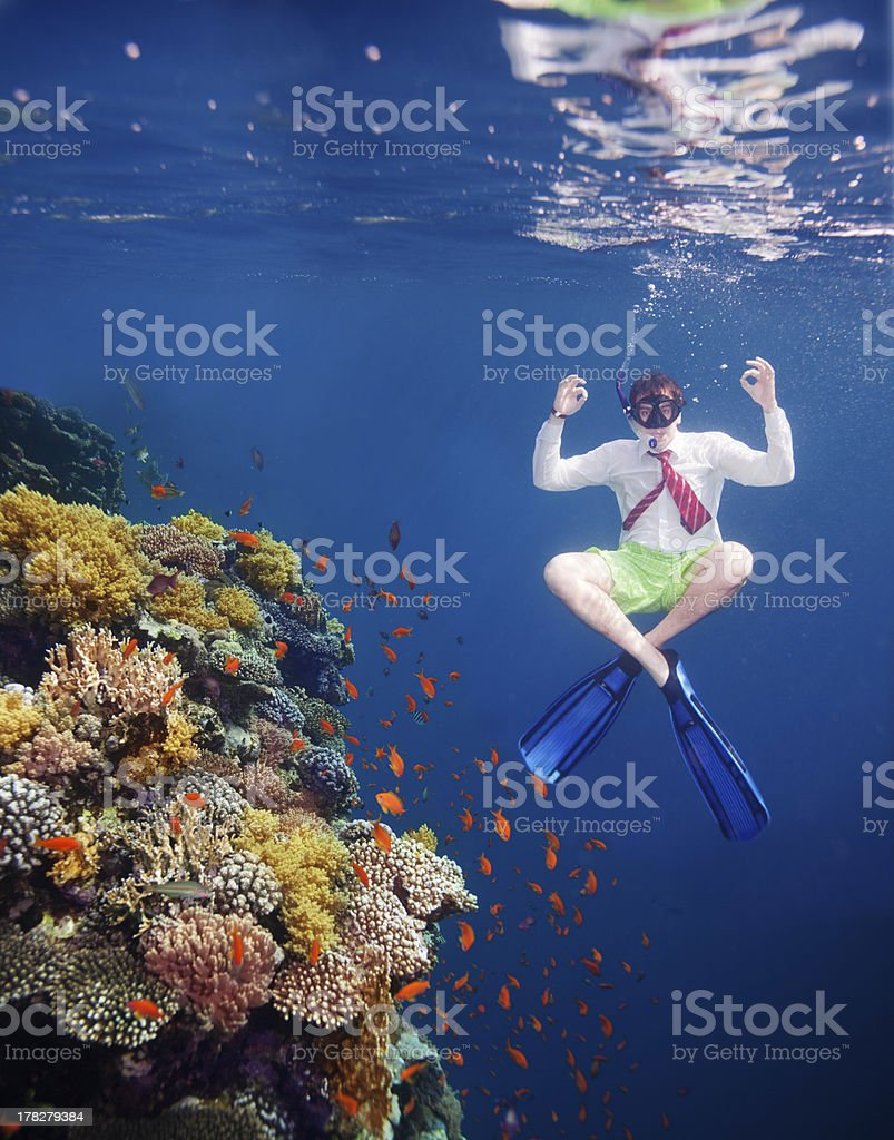 Out of comfort zone can be calm and hassle free stock photo