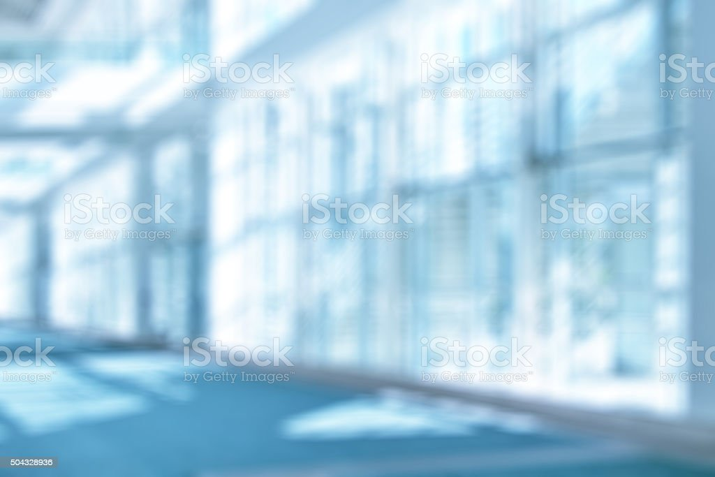 Out of Focus Atrium Background stock photo