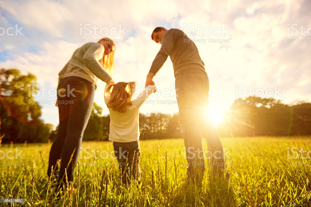 Out of focus backgrounds.Happy family concept. stock photo