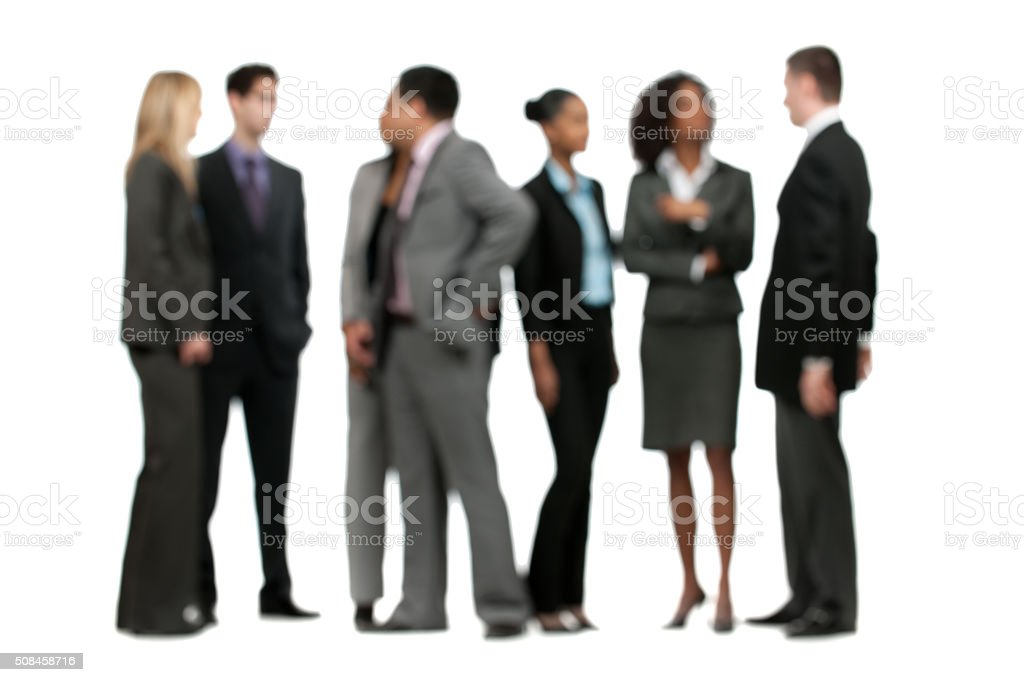 Out of Focus Business People stock photo