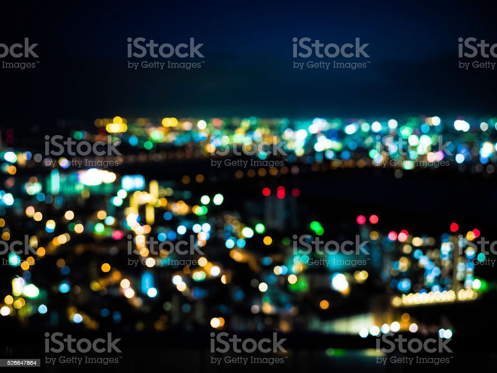 Out of focus City stock photo