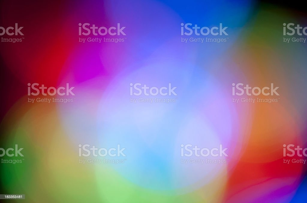 Out of focus colorful lights stock photo