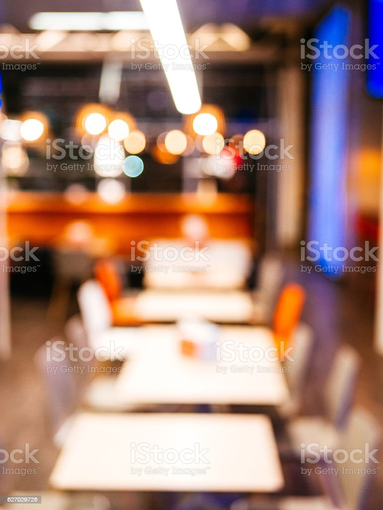 Out of focus image of modern interior stock photo