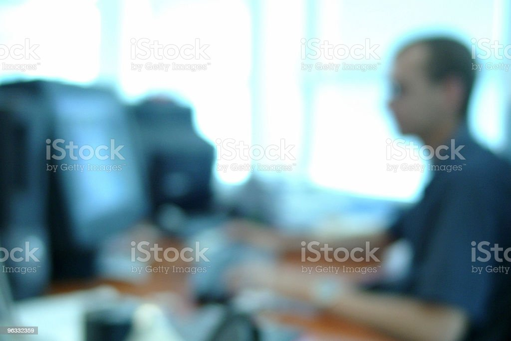 Out of focus office stock photo