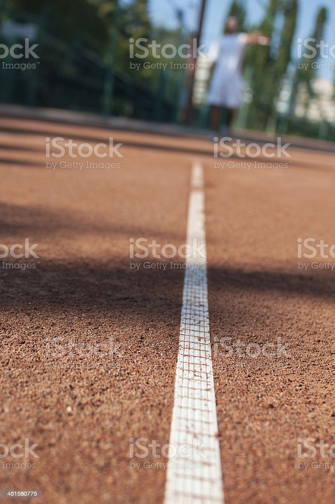 out of focus tennis player royalty-free stock photo