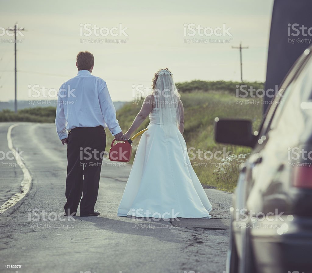 Out of Fuel royalty-free stock photo