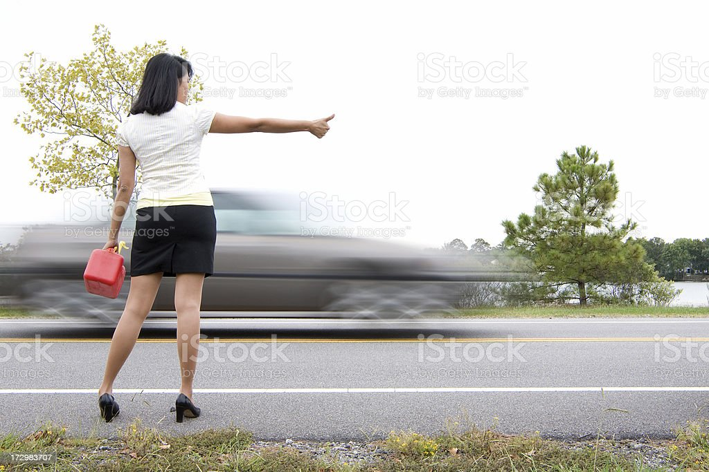 Out of Gas royalty-free stock photo