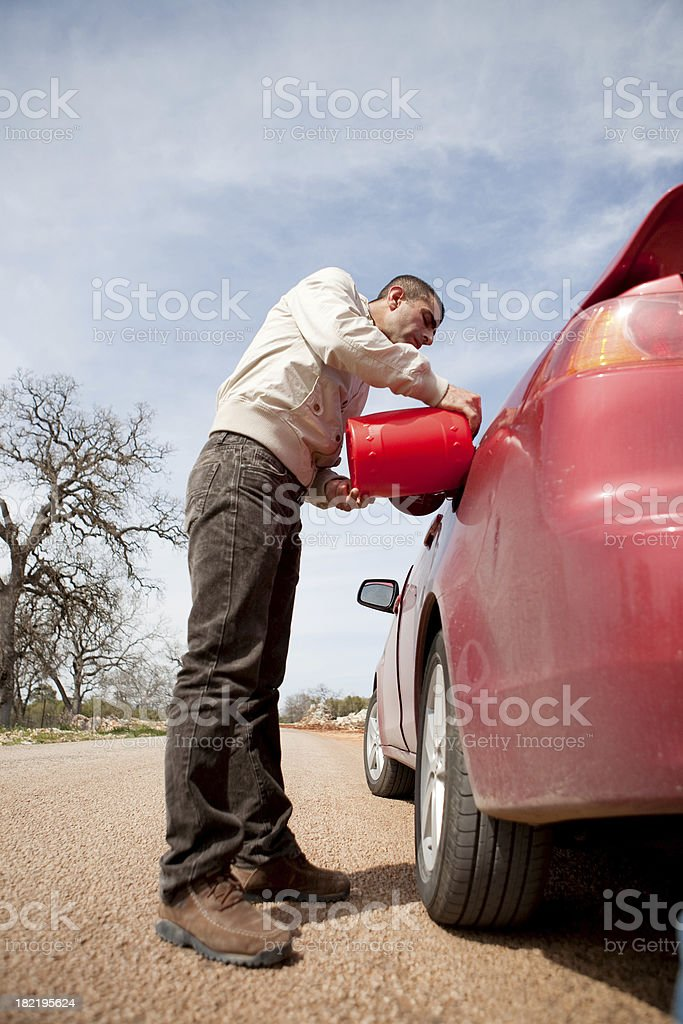 Out of gas stock photo