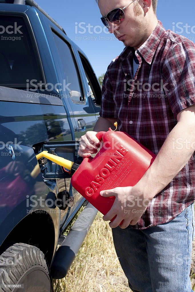 Out of Gas Series stock photo