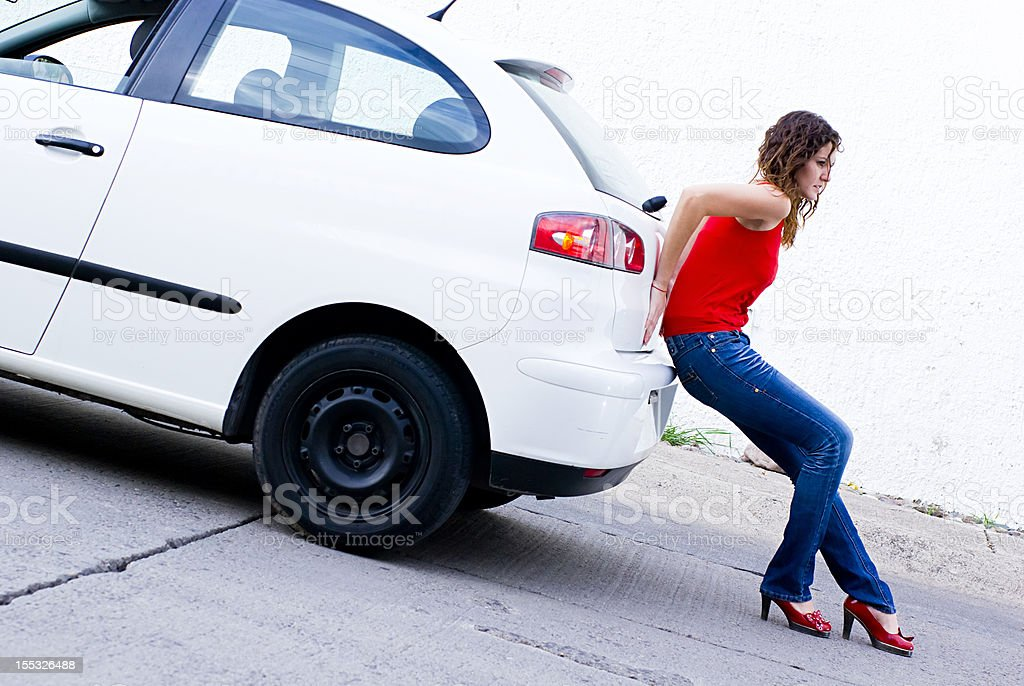 Out of gasoline stock photo