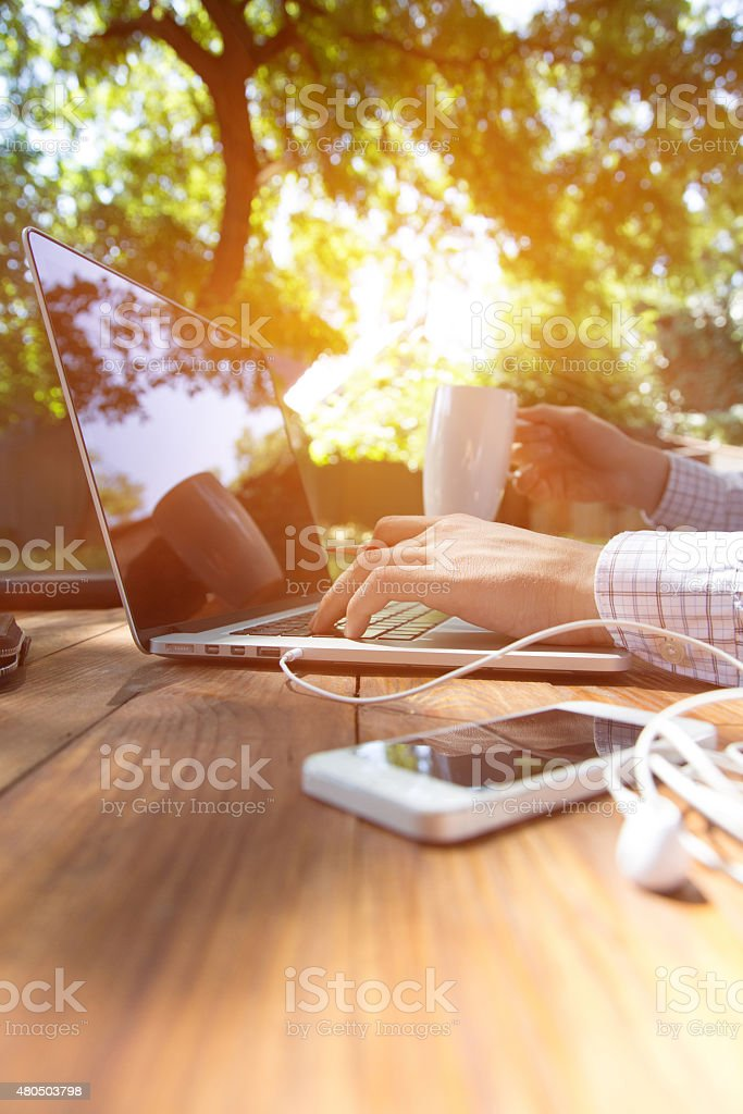 Out of office work concept vertical stock photo