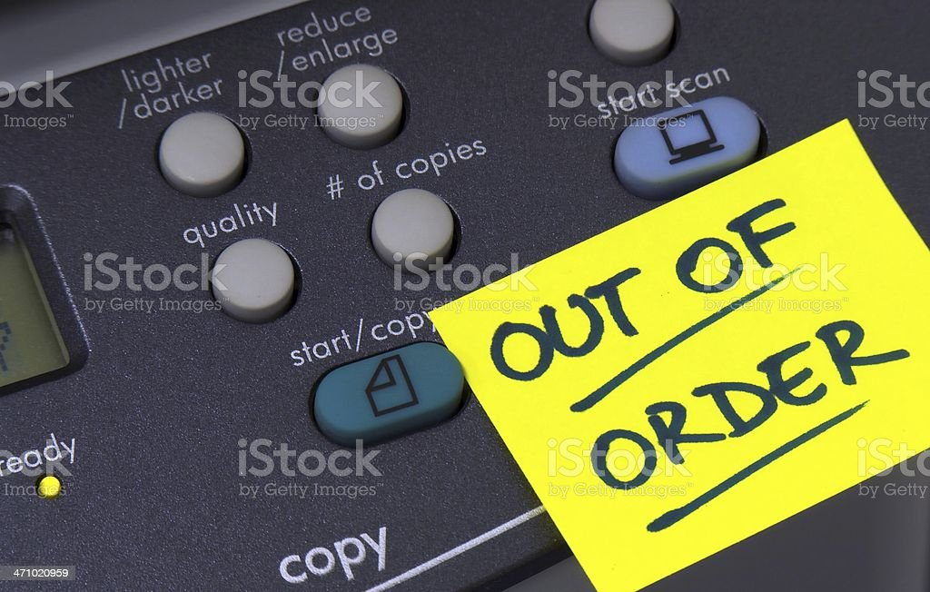 Out of order 1 royalty-free stock photo