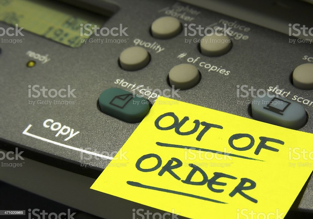 Out of order 2 royalty-free stock photo