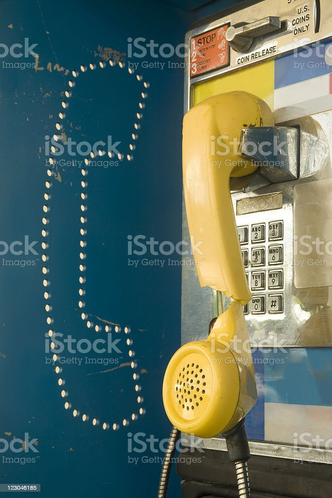 Out of order payphone royalty-free stock photo