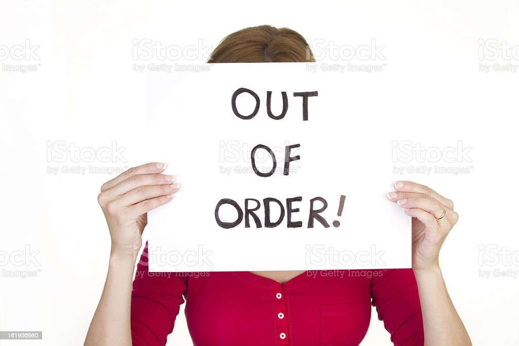 out of order royalty-free stock photo