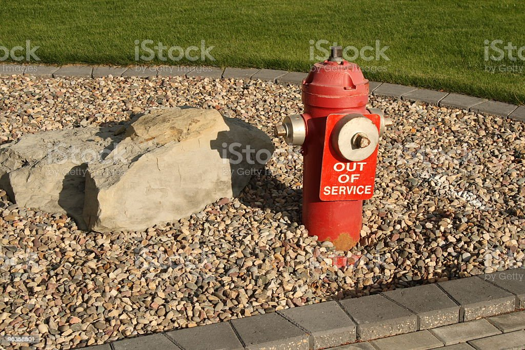 out of service fire hydrant horizontal stock photo