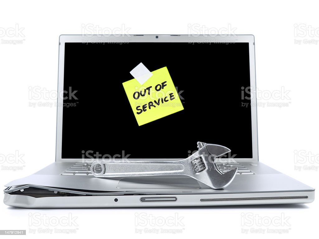 Out of service laptop royalty-free stock photo