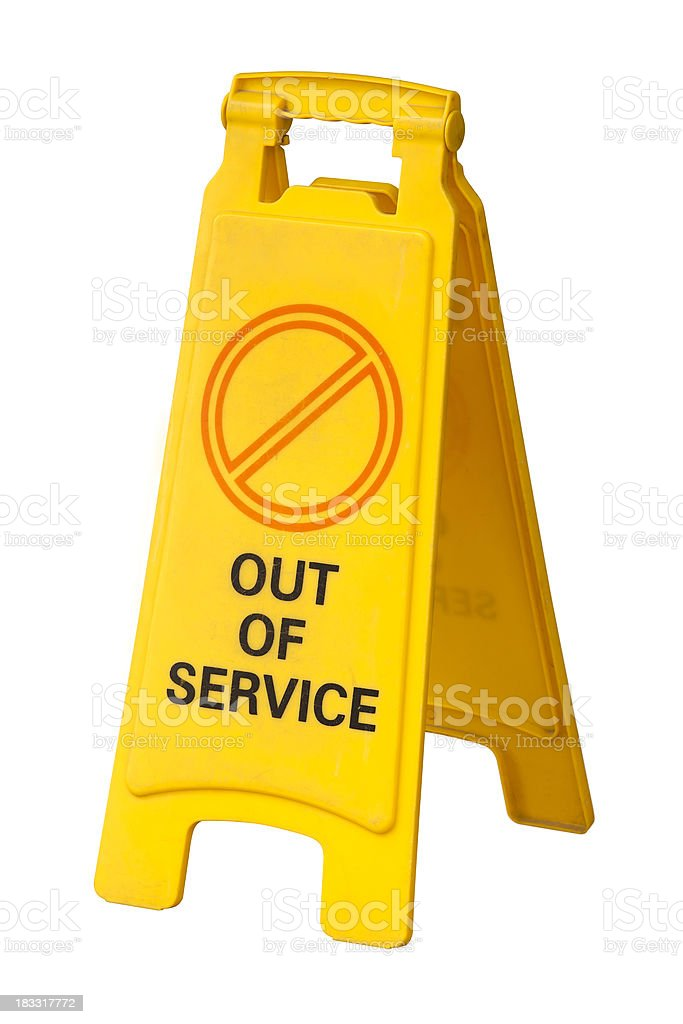 Out of service sign stock photo