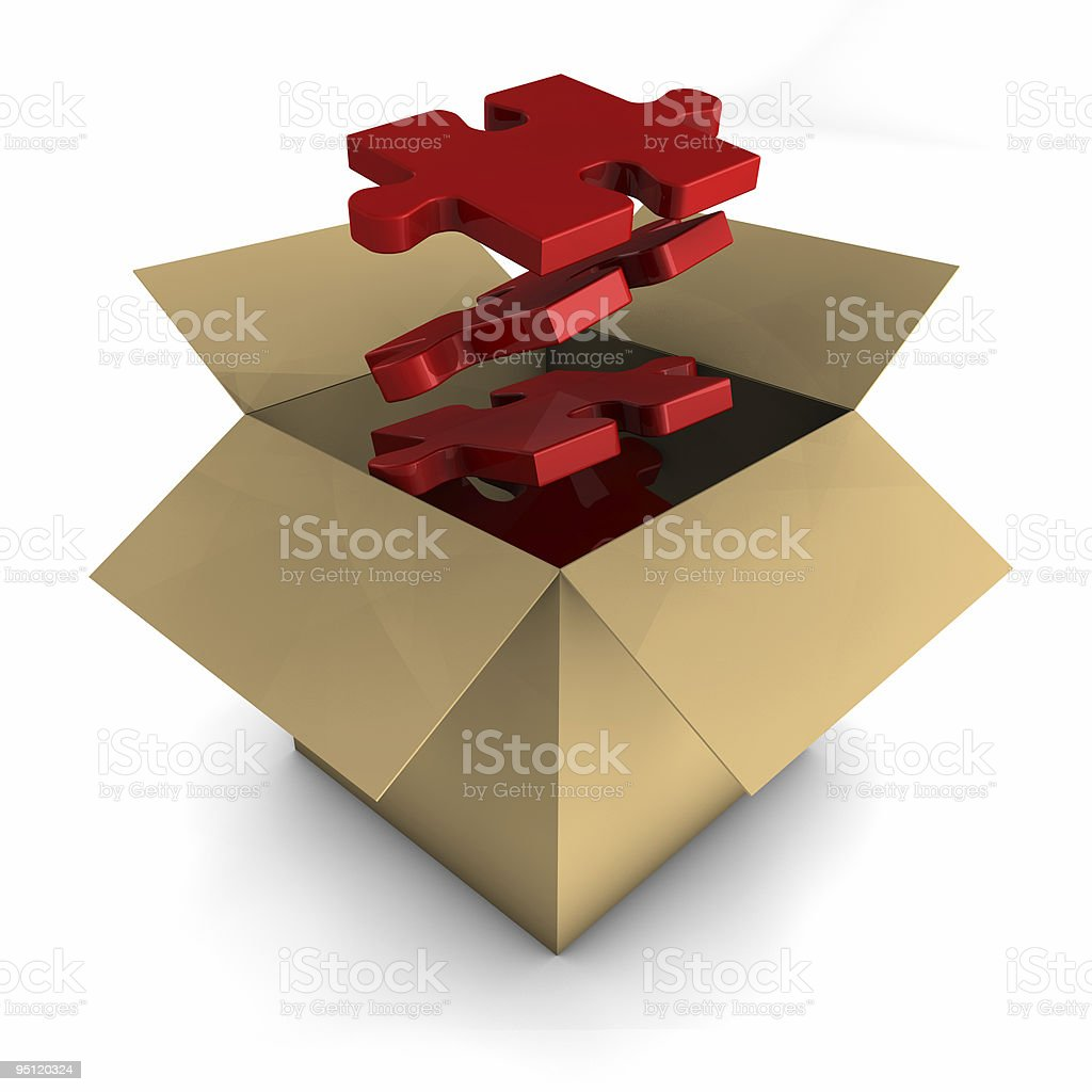 Out of the Box Concept royalty-free stock photo