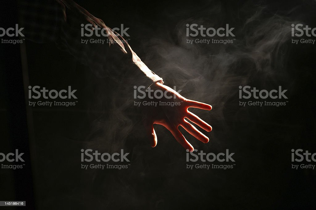Out of the dark royalty-free stock photo