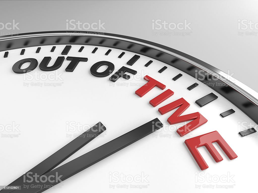out of time vector art illustration