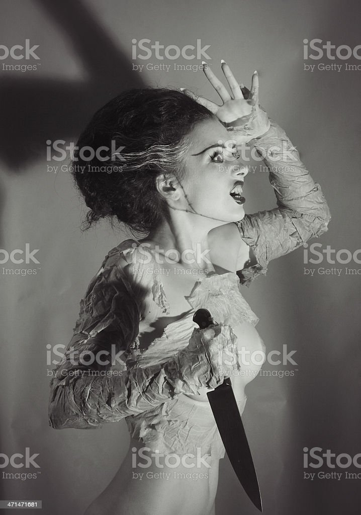 Out of time.Frankenstein`s Bride stock photo