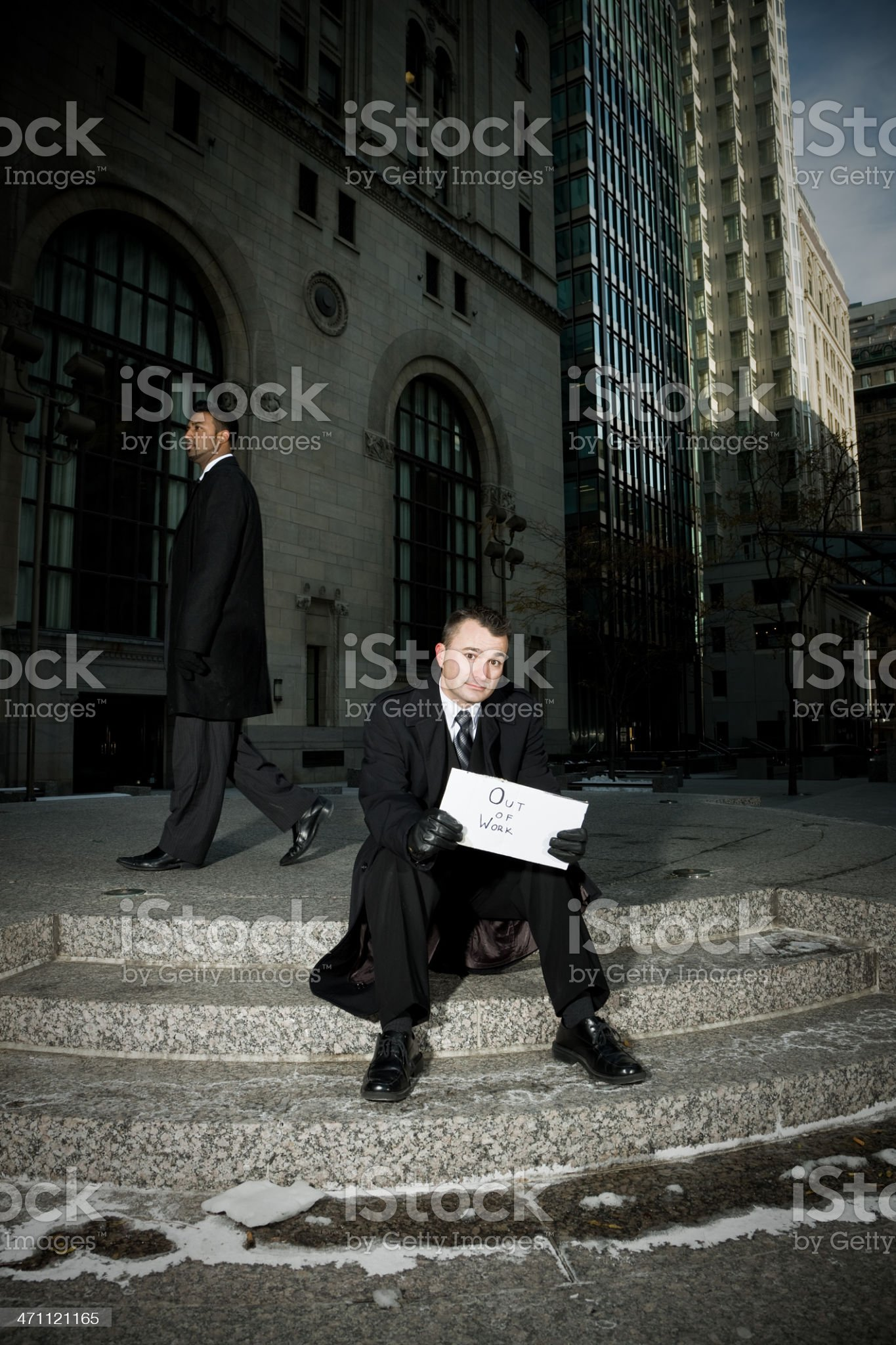 Out of work royalty-free stock photo