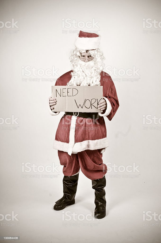 out of work santa royalty-free stock photo