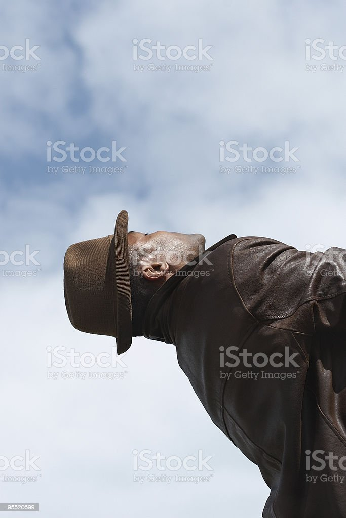 out there man royalty-free stock photo