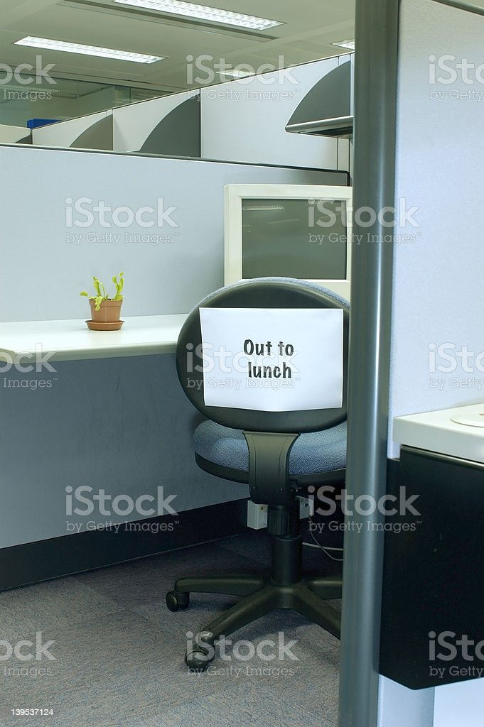 out to lunch - office series royalty-free stock photo