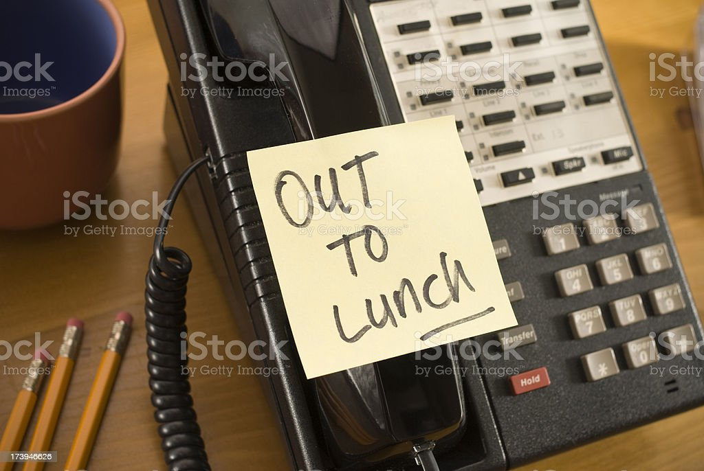 Out to Lunch. royalty-free stock photo