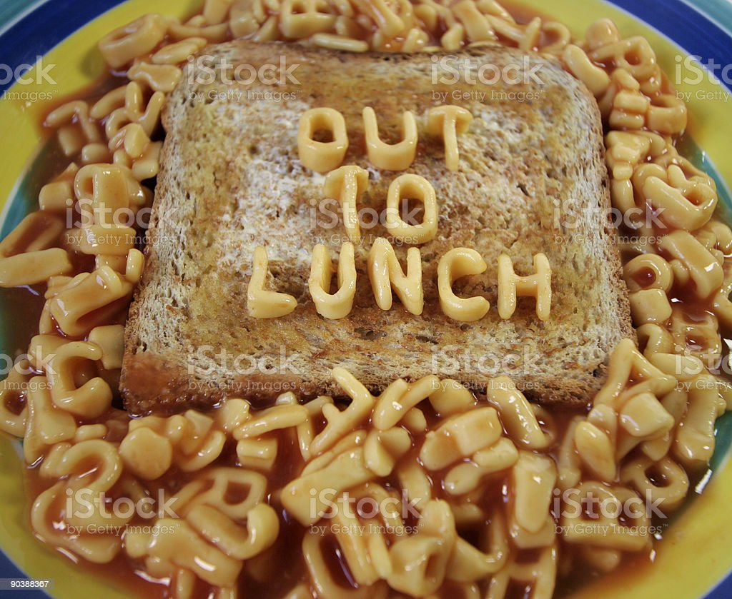 out to lunch royalty-free stock photo