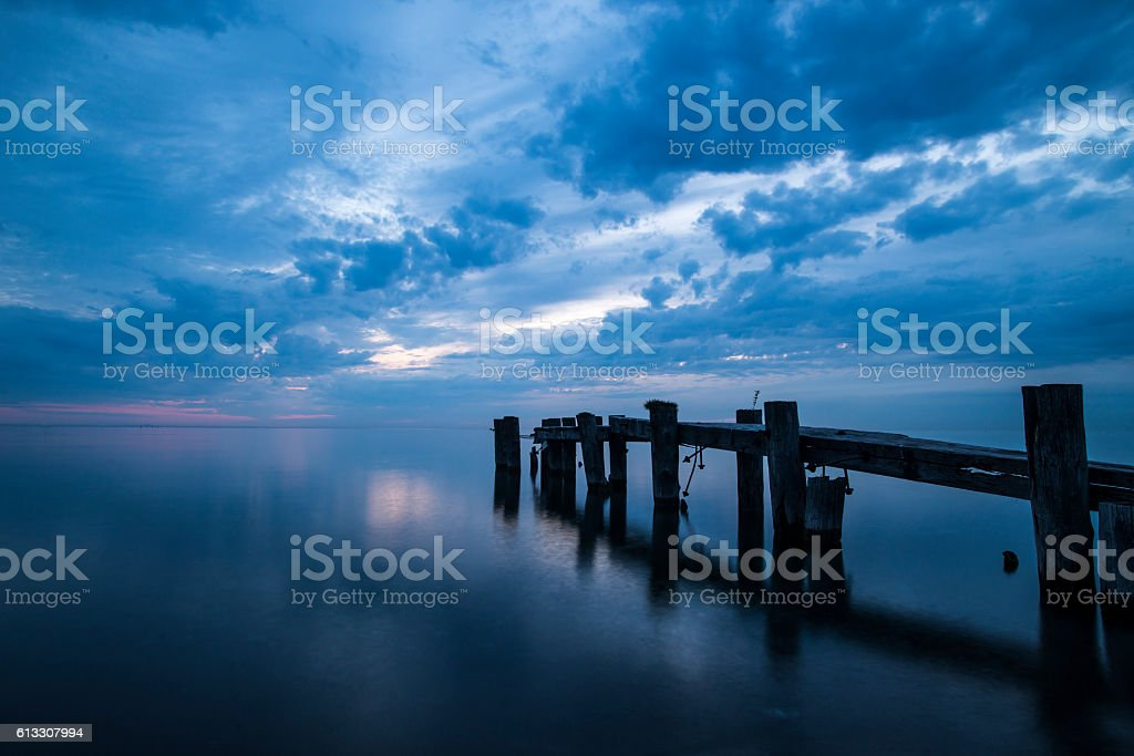Out to sea. stock photo