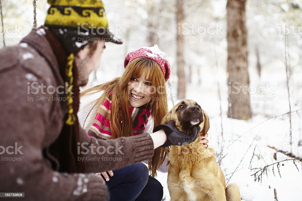 Out with dog stock photo