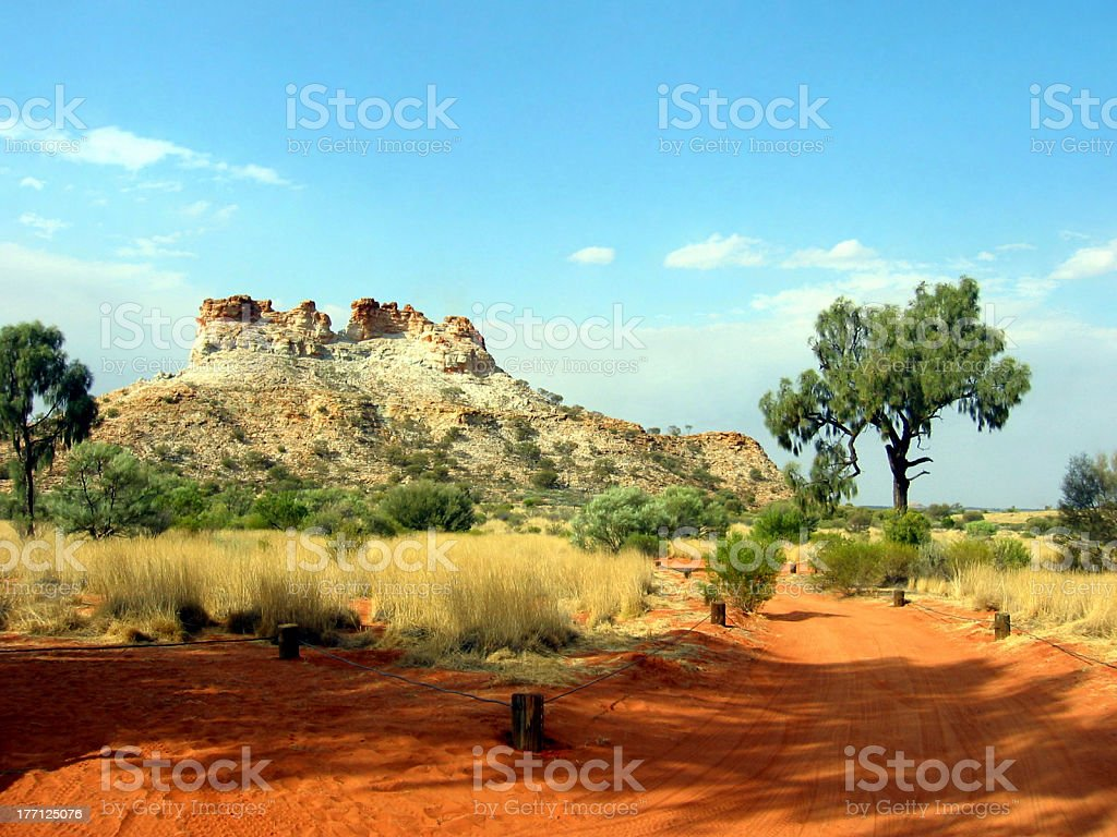Outback Ancient Rock Scene royalty-free stock photo