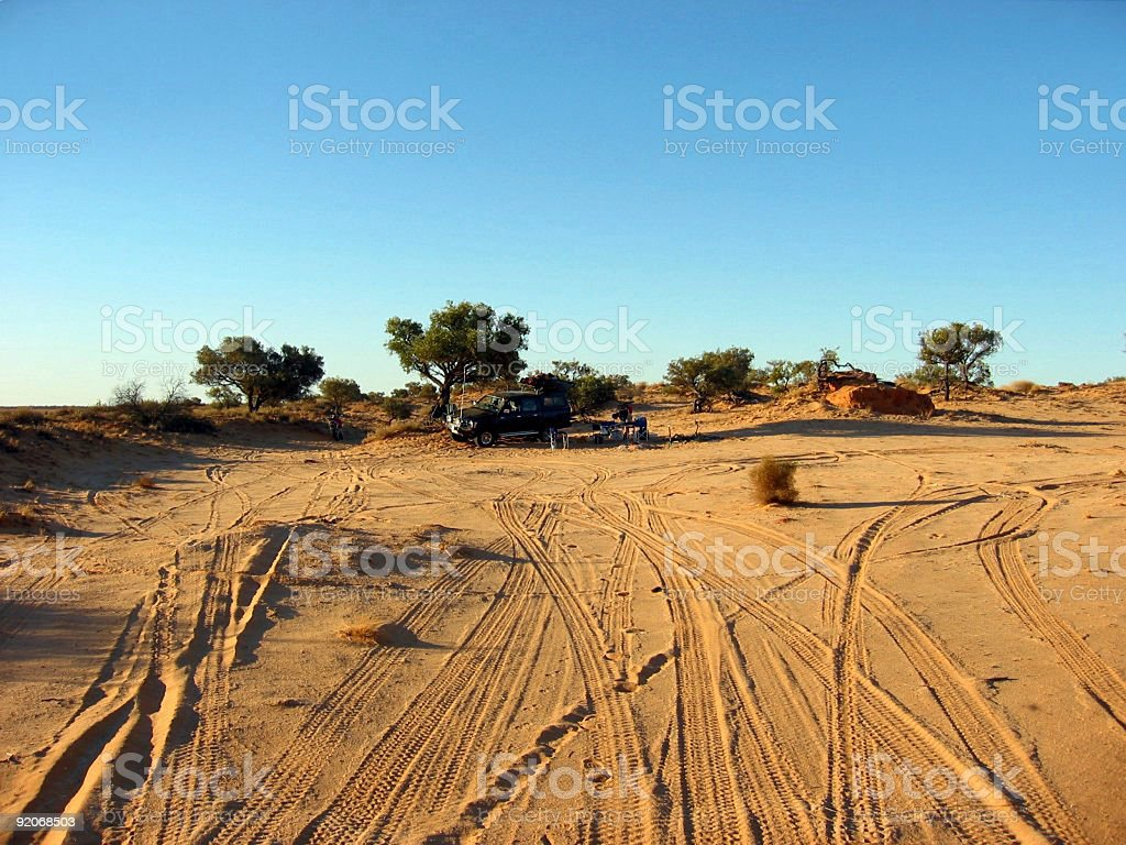 Outback Camp Site royalty-free stock photo