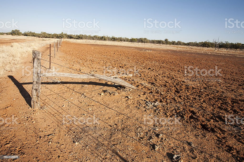 Outback Fence Line stock photo