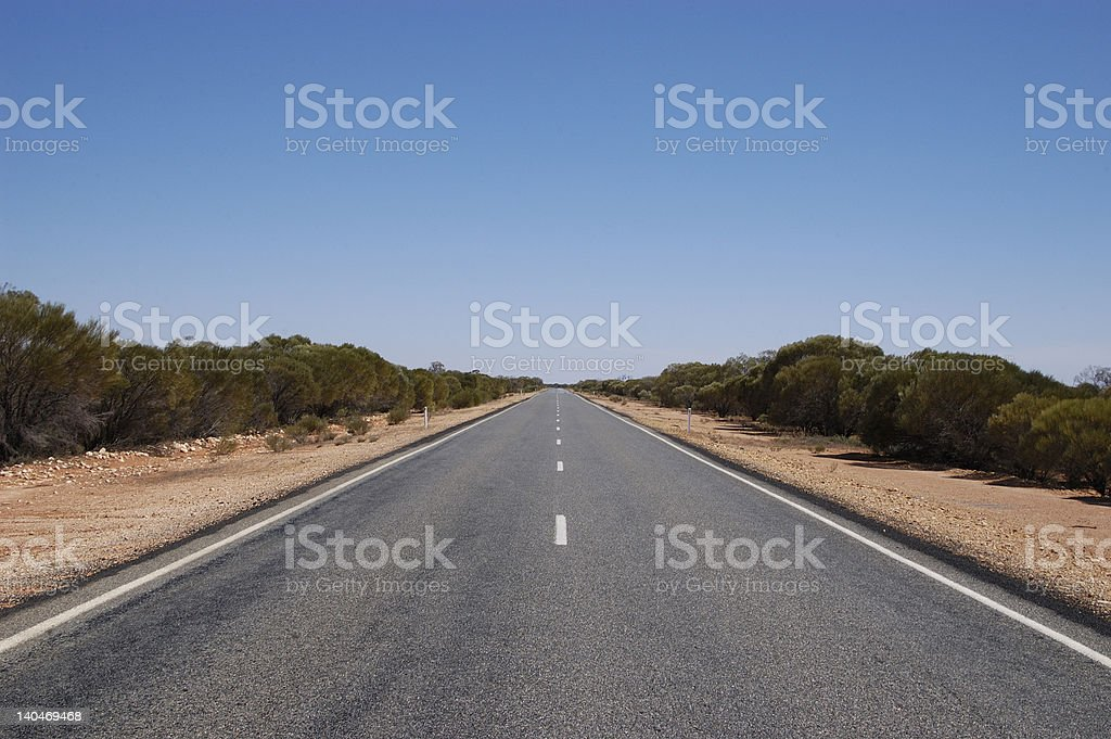 Outback Highway, New South Wales, Australia royalty-free stock photo